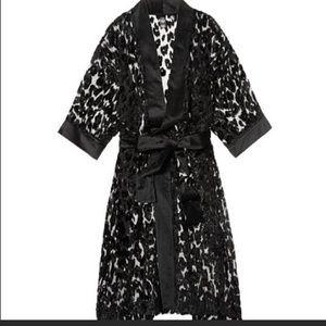 Luxury Victoria's Secret Robe -Leopard/Mesh/Velvet